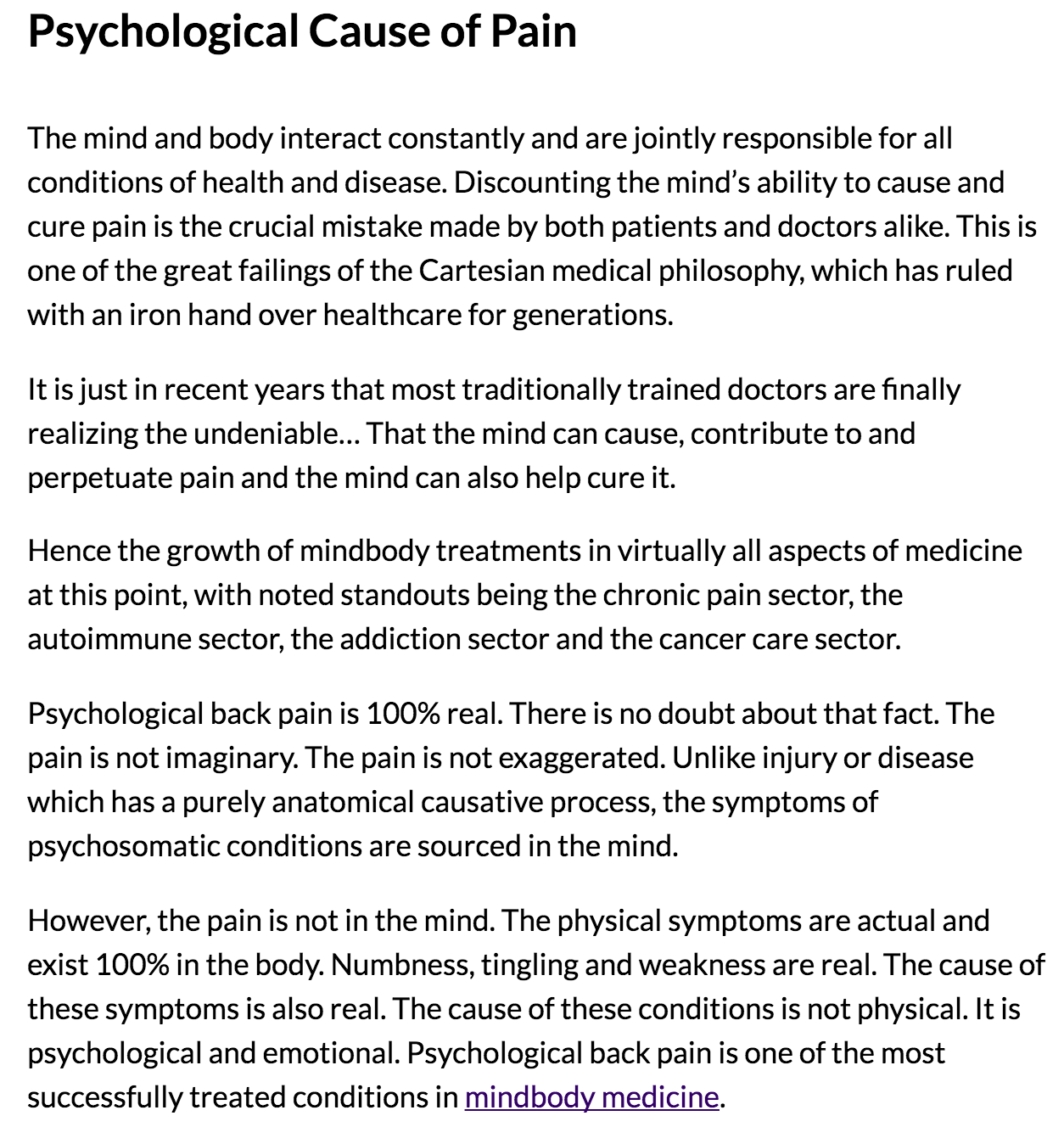 Low Back Pain? (Reduce It In