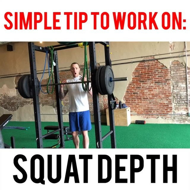 Work on your squat depth AND keep the bar loaded up. 😎