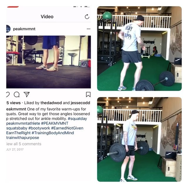 """*NSFW* (sorry mom) — One of these is not like the others… my boy @peakmvmnt wanted me to make a squat prep video (look at the vid on the left side for proper form lol 😂) for our upcoming eBook, Maximum Mobility, so i said """"ok sure!"""" before knowing what it looked like. — Rustin knows how bad my ankle mobility is, so i'm sure you can guess how these ended! 😂😂😂 — Anyone else feel my pain trying to get into a deep squat?! — #tallguyproblems #mobility #maximummobility #flexibility #stretching #stretch #mobilitytraining #mobilitywod #mobilitychallenge #trainer #strengthcoach #reformedathletes"""