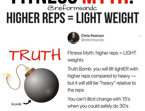 """Fitness Myth: Higher Reps = Light Weight . I realize that doing more reps typically means using lighter weight. The issue isn't that, per se. . The problem I run into, especially thus far in my monthly group Reform Xclusive, is that a lot of folks think there are pre determined numbers that define """"light"""". . There cant really be a standard number for what is light because there are so many differences from individual to individual. I see many people use the dumbbell rack as a guide to heavy/light, or a set number say over or under 25's etc. . I see this in both men and women, but predominantly the latter. Even though women are way more responsive to lifting (and lifting heavy) than they were 10 years ago when I started out, a lot still think that going to heavy will make you bulky. . Being bulky is a topic for a different day, but, the short version is that you wont get bulky unless you TRY to get bulky. . Anyway, situations may play out something like this, """"I want to do 10-12 reps and I could probably do 30's, but that's too heavy I need to use 15's since it's higher rep day."""". The problem with that is the lifter wont make much (if any) progress because they are not pushing their body and muscles hard enough to make real changes. Sure repetitive lifts with 15's is better than nothing, but why not reach the goal faster if you can? . *Just to note: all reps whether heavy or light should be with perfect form* . Have you ever had your mind play tricks on you like this? Comment below what you've experienced/dealt with. . #lifting #liftheavy #weightlifting #liftweights #fitness #girlgains #fitnessaddict #fit4life #gymtime #fitfam #trainer #strengthcoach #reformedathletes"""